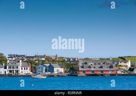 Ireland, County Cork, Mizzen Head Peninsula, Crookhaven, village view - Stock Photo