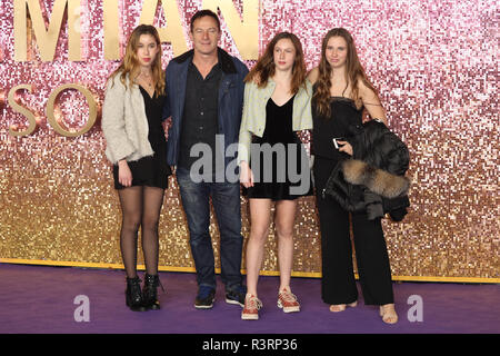 Bohemian Rhapsody World Premiere held at Wembley - Arrivals  Featuring: Jason Isaacs, daughters Ruby Isaacs, Lily Isaacs Where: London, United Kingdom When: 23 Oct 2018 Credit: Lia Toby/WENN.com - Stock Photo