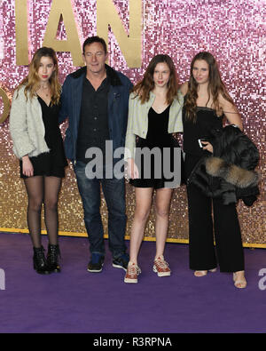 The World Premiere of 'Bohemian Rhapsody' held at the SSE Arena, Wembley - Arrivals  Featuring: Jason Isaacs and Family Where: London, United Kingdom When: 23 Oct 2018 Credit: Mario Mitsis/WENN.com - Stock Photo