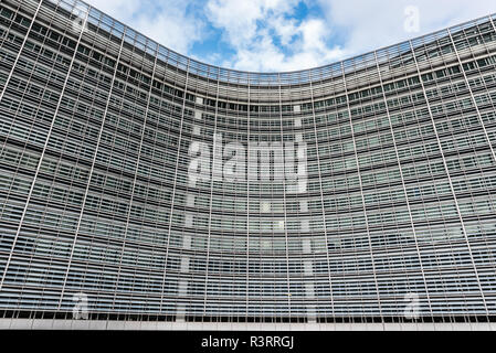 Abstract view of the Berlaymont building of the European Commission in the European Quarter in Brussels, Belgium - Stock Photo