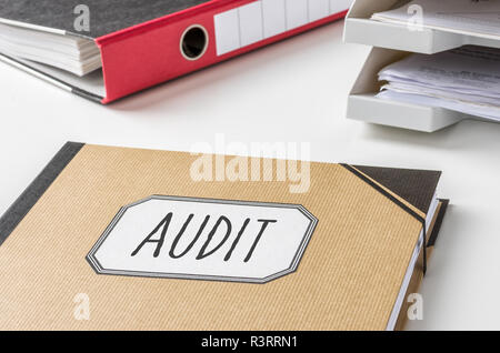 binder with the caption audit - Stock Photo