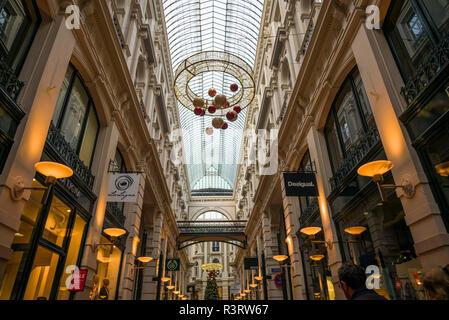 Netherlands, The Hague. De Passage, 19th century shopping arcade, interior - Stock Photo