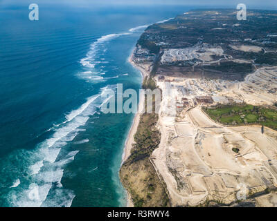 Indonesia, Bali, Aerial view of Payung beach