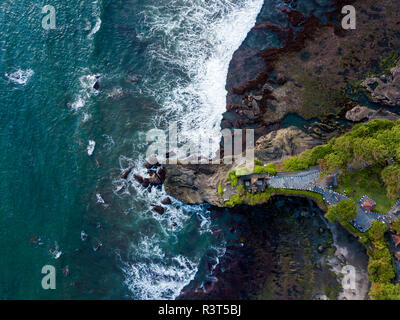 Indonesia, Bali, Aerial view of Tanah Lot temple - Stock Photo