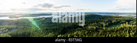 Finland, Kuopio, View from Puijo Tower - Stock Photo