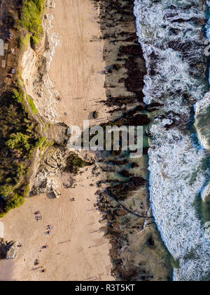 Indonesia, Bali, Aerial view of Dreamland beach - Stock Photo