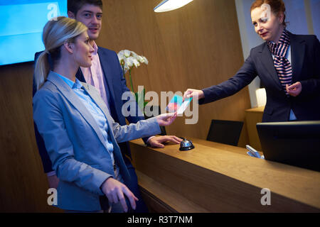 Couple on a business trip - Stock Photo