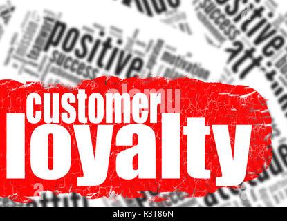 Word cloud customer loyalty - Stock Photo