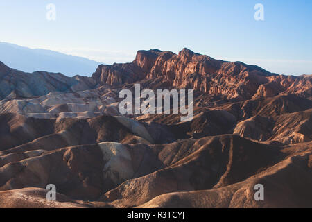 Vibrant panoramic summer view of Zabriskie point badlands in Death Valley National Park, Death Valley, Inyo County, California, USA