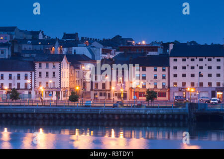 Ireland, County Waterford, Waterford City, skyline, dusk - Stock Photo