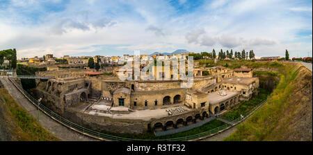 Italy, Naples, Ercolano, Herculaneum excavation site - Stock Photo