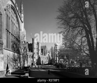 St Johns Street Cambridge England in winter sunshine - Stock Photo