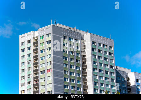 a block from the gdr era in berlin - Stock Photo