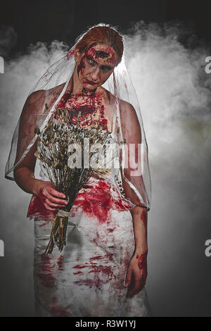 Zombie Braut - Stock Photo