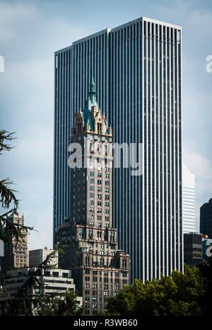 19th-century architecture framed by late 20th-century tower typifies the character of a dynamic urban center. - Stock Photo