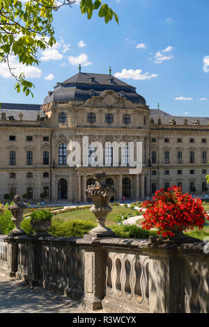 The Residence (UNESCO World Heritage Site), Wurzburg, Bavaria, Germany - Stock Photo