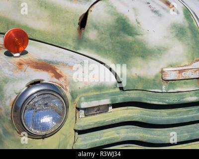 Arizona, Cool Springs, 1952 Chevy 3/4 ton pickup truck - Stock Photo
