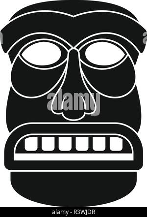 Aztec idol icon. Simple illustration of aztec idol vector icon for web design isolated on white background - Stock Photo