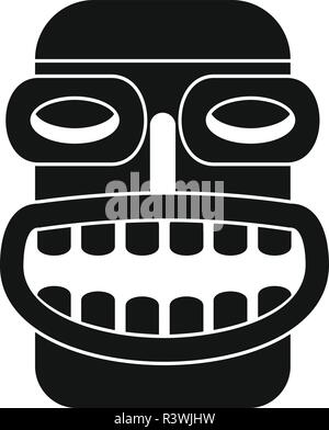 Hawaii idol head icon. Simple illustration of hawaii idol head vector icon for web design isolated on white background - Stock Photo