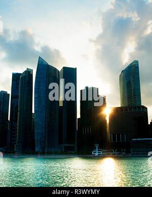 Singapore backlight - Stock Photo