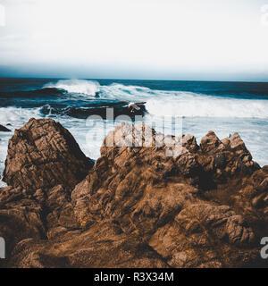 Pacific Ocean at Pebble Beach, California - Stock Photo