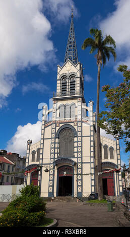 St. Louis Cathedral, Fort de France, in the French Caribbean island of Martinique - Stock Photo