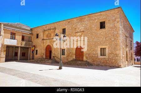 San Clemente village in Cuenca at Castile La Mancha by Saint James Way of levante - Stock Photo