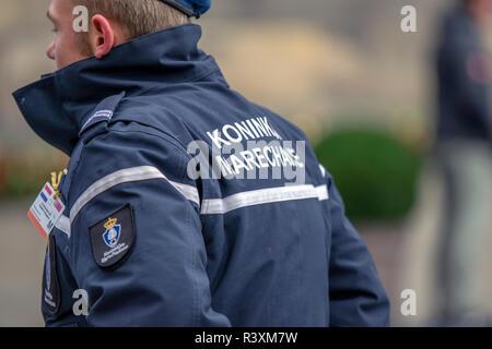 Front Side Jacket Koninklijke Marechaussee At Amsterdam The Netherlands 2018 (2) - Stock Photo