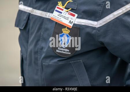 Front Side Jacket Koninklijke Marechaussee At Amsterdam The Netherlands 2018 - Stock Photo