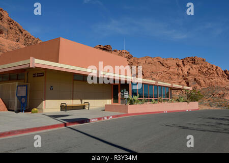 USA, Nevada. Valley of Fire State Park Visitors Center - Stock Photo