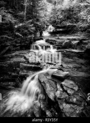 USA, New Hampshire, White Mountains. Coliseum Falls - Stock Photo