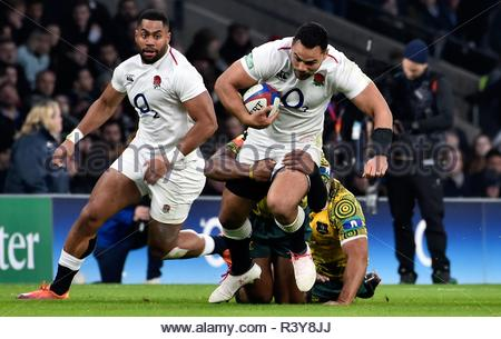 London UK 24th November 2018 Quliter International  Action during the match which was won by  England 37-18 Credit: Leo Mason DANCE Photos/Alamy Live News - Stock Photo