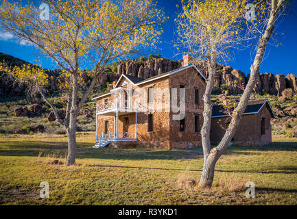 Fort Davis National Historic Site is a United States National Historic Site located in the unincorporated community of Fort Davis, Jeff Davis County,  - Stock Photo