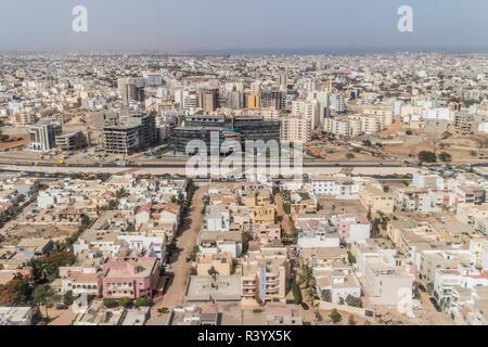 Aerial view of Dakar - Stock Photo