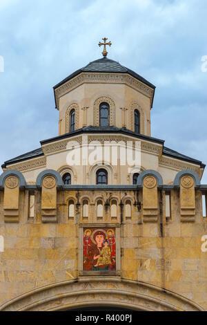 Holy Trinity Cathedral, Tbilisi, Georgia - Stock Photo