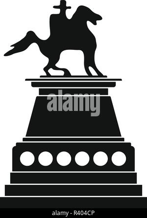 Horse statue icon. Simple illustration of horse statue vector icon for web design isolated on white background - Stock Photo