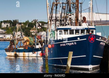 USA, Massachusetts, Cape Ann, Gloucester, waterfront - Stock Photo