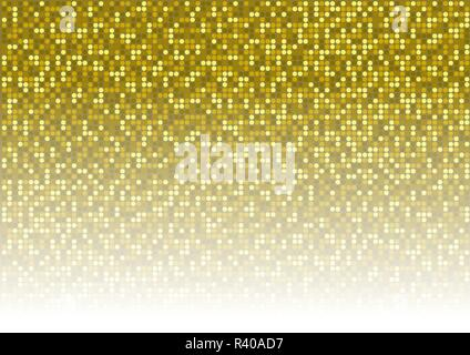 Gold Dotted Background - Stock Photo