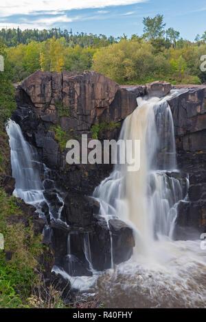 Minnesota, Grand Portage State Park, High Falls, 120 feet - Stock Photo