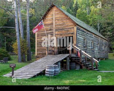 Minnesota, Grand Portage National Monument, North West Company trade headquarters, 1784-1803, Warehouse - Stock Photo