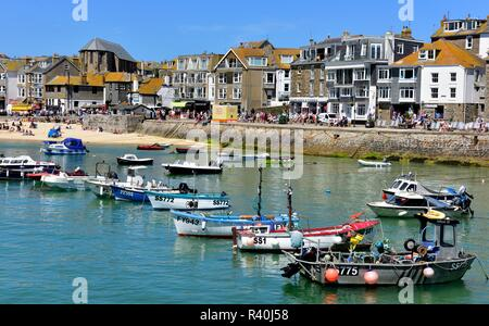 St Ives,Harbour,Cornwall,England,UK - Stock Photo