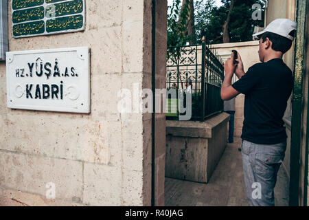 Istanbul, Turkey - SEP 12, 2008: Tomb of the Prophet Joshua, Yusa located on the highest hill of Istanbul around Beykoz - Stock Photo