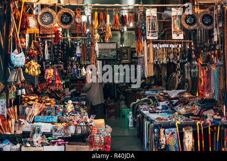 Istanbul, Turkey - SEP 12, 2008: Local market next to Tomb of the Prophet Joshua, Yusa - Stock Photo