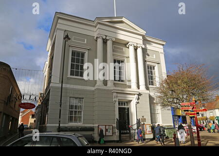 Town Hall, Market Hill, Sudbury, Babergh district, Suffolk, East Anglia, England, Great Britain, United Kingdom, UK, Europe - Stock Photo