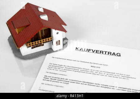 Real estate contract - Concept with the German Word Kaufvertrag