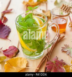 cup fresh tea - Stock Photo
