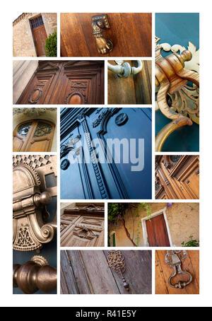 Doors and knockers - Stock Photo