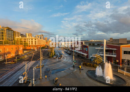 Olympic Sculpture Park in Seattle, Washington State, USA - Stock Photo