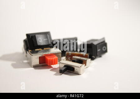 A few types of switches showcased. - Stock Photo