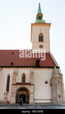entrance to St. Martin Cathedral in Bratislava - Stock Photo
